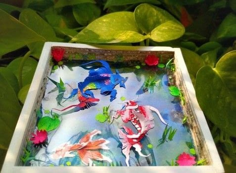 How To Make Paper Pond With Paper Fish .  Free tutorial with pictures on how to make a papercraft in 21 steps Inspired by fish. How To posted by Gitanjali M.  in the Other section Difficulty: 5/5. Cost: No cost.
