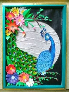 HOW TO MAKE PISTACHIO SHELL PEACOCK .  Free tutorial with pictures on how to make a mixed media in 22 steps Inspired by crafts and peacock. How To posted by Gitanjali M.  in the Home + DIY section Difficulty: Easy. Cost: No cost.