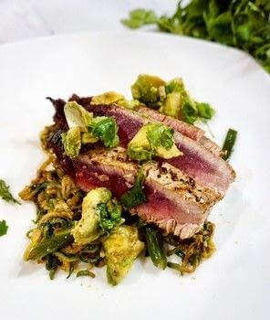 .  Free tutorial with pictures on how to cook a tuna dish in under 12 minutes by cooking with coconut oil, butter, and coriander seeds. Recipe posted by Amanda G.  in the Recipes section Difficulty: Simple. Cost: Cheap. Steps: 5