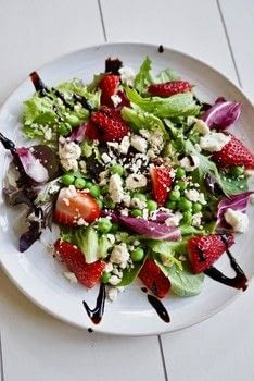 .  Free tutorial with pictures on how to make a strawberry salad in under 10 minutes by cooking with strawberries, peas, and greens. Recipe posted by Amanda G.  in the Recipes section Difficulty: Easy. Cost: No cost. Steps: 3