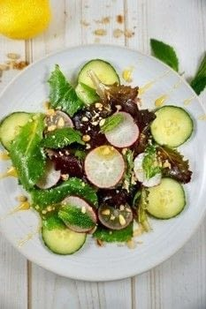 .  Free tutorial with pictures on how to make a salad in under 15 minutes by cooking with radishes, cucumber, and lemon juice. Recipe posted by Amanda G.  in the Recipes section Difficulty: Easy. Cost: Cheap. Steps: 4