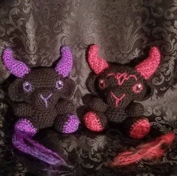 Crochet baphomet plush .  Make a plushies & friends in under 180 minutes by crocheting with yarn and hooks. Creation posted by Jinx.  in the Yarncraft section Difficulty: 3/5. Cost: Cheap.