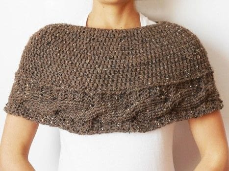 Make a cute textured cape to practice crochet stitches .  Free tutorial with pictures on how to make a capelet in 4 steps by crocheting with crochet hook and worsted weight yarn. How To posted by Chabepatterns.  in the Yarncraft section Difficulty: 3/5. Cost: No cost.