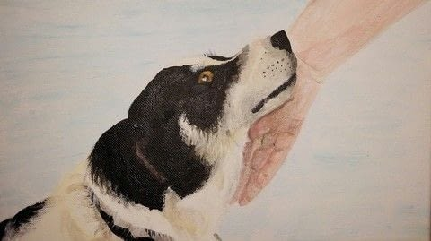 Dog painting .  Free tutorial with pictures on how to paint a painting in under 180 minutes by creating with paints. Inspired by dogs. How To posted by Anders P.  in the Art section Difficulty: 3/5. Cost: No cost. Steps: 3