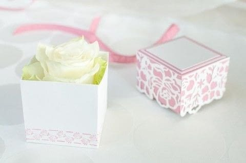 Beautiful wedding gift box .  Make a papercraft in under 60 minutes using cardstock and adhesive. Creation posted by Fräulein Erdbeerli - Miss Strawberry.  in the Papercraft section Difficulty: 4/5. Cost: Cheap.