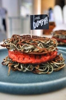 Try the new vegan Oumph! burger on a black ramen bun. .  Free tutorial with pictures on how to cook a veggie burger in under 45 minutes by cooking with oumph, noodles, and chia seeds. Inspired by vegan. Recipe posted by Cat Morley.  in the Recipes section Difficulty: Simple. Cost: Cheap. Steps: 14