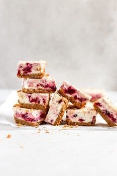 Sweet and Tangy Cranberry Cheesecake Bars .  Free tutorial with pictures on how to bake a cheesecake in under 25 minutes by cooking and baking with cranberries, brown sugar, and cinnamon. Recipe posted by Sam A.  in the Recipes section Difficulty: Simple. Cost: Cheap. Steps: 3