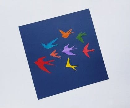 Stencil Art for Beginners .  Free tutorial with pictures on how to paint a stencilled painting in under 15 minutes by creating and printing with stencil, art, and sponge paintbrush. Inspired by birds. How To posted by Muhaiminah Faiz.  in the Home + DIY section Difficulty: Easy. Cost: 3/5. Steps: 6
