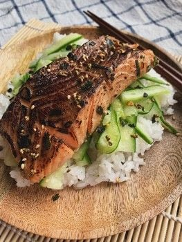 The BEST Miso Salmon  .  Free tutorial with pictures on how to cook a salmon dish in under 45 minutes by cooking and baking with salmon, furikake, and white miso. Inspired by japanese, fish, and food. Recipe posted by Chyuen.  in the Recipes section Difficulty: Easy. Cost: 3/5. Steps: 4