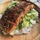 Miso Salmon With Cucumber Salad
