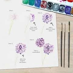 Allium Floral Watercolor Tutorial