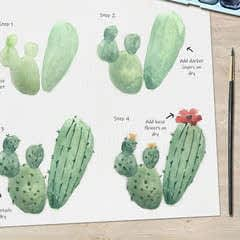Cactus Watercolour Tutorial