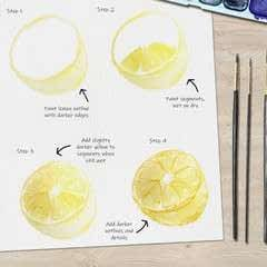 Juicy Lemon Watercolor Tutorial