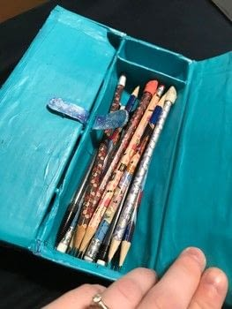 A YouTube craft perfect for back to school .  Recycle a pencil box in under 180 minutes by constructing, decorating, embellishing, and not sewing with can, cardboard, and paint. Inspired by galaxy print. Creation posted by Kinhime Dragon.  in the Home + DIY section Difficulty: Simple. Cost: Absolutley free.