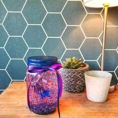 Glitter And Shrink Plastic Globe
