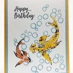 Koi Fish Card