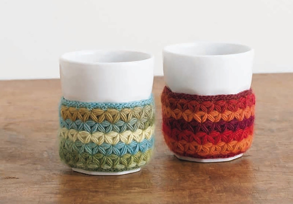 Crochet Cup Holder Extract From Japanese Wonder Crochet By Nihon Vogue How To Make A Mug Warmer