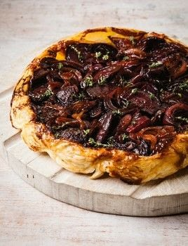 The Hairy Bikers' One Pot Wonders .  Free tutorial with pictures on how to bake a pie in under 45 minutes by cooking with puff pastry, butter, and  red onions. Recipe posted by Orion Books.  in the Recipes section Difficulty: Simple. Cost: Cheap. Steps: 6