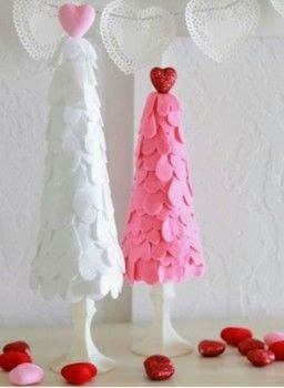 Valentines Day Project  .  Free tutorial with pictures on how to make a shrine in under 30 minutes using white chalk, styrofoam cone, and glitter hearts. Inspired by valentine's day. How To posted by Melissa Putnam.  in the Home + DIY section Difficulty: Simple. Cost: Cheap. Steps: 4