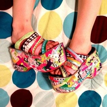 Make your shoes bright! .  Free tutorial with pictures on how to make a shoe in under 120 minutes by decorating with ribbon, hot glue gun, and lighter. Inspired by costumes & cosplay, kawaii, and clothes & accessories. How To posted by LollyLabbit. Difficulty: Simple. Cost: No cost. Steps: 5