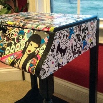 Add some color! .  Make furniture in under 60 minutes using paper and decoupage. Creation posted by LollyLabbit.  in the Decorating section Difficulty: Simple. Cost: No cost.