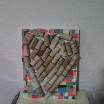 Uncork your heart! .  Decorate a canvas in under 20 minutes using wine corks, tacky glue, and paper. Creation posted by Ashley P.  in the Art section Difficulty: Simple. Cost: Absolutley free.