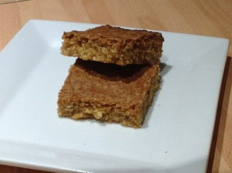 .  Free tutorial with pictures on how to bake a bar / slice in under 40 minutes by cooking and baking with butter, brown sugar, and vanilla. Recipe posted by Super Madcow.  in the Recipes section Difficulty: Easy. Cost: Cheap. Steps: 7