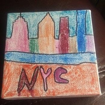 Melt into your creativity .  Paint a landscape in under 15 minutes using canvas and crayons. Creation posted by Ashley P.  in the Art section Difficulty: Easy. Cost: No cost.