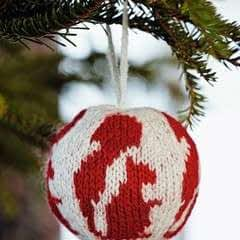 Squirrel Knitted Christmas Ball
