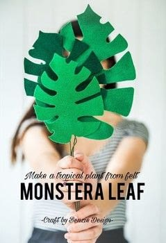 Make an Easy Felt Monstera Leaf in #ShopShowcase with Benzie Design in Plainfield, Illinois .  Free tutorial with pictures on how to make a decoration in under 35 minutes by not sewing with felt, freezer paper, and spray stiffener. How To posted by Shop Showcase.  in the Sewing section Difficulty: Simple. Cost: Cheap. Steps: 6