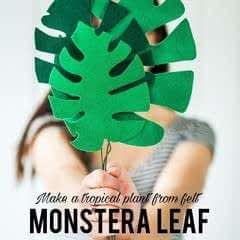 Easy Felt Monstera Leaf