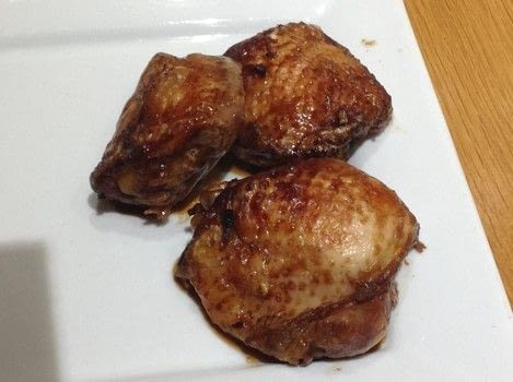 .  Free tutorial with pictures on how to cook a chicken dish in under 70 minutes by cooking and baking with chicken thighs, sauce, and white vinegar. Recipe posted by Super Madcow.  in the Recipes section Difficulty: Easy. Cost: Cheap. Steps: 3