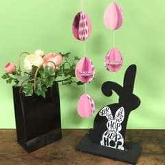 Colourful Easter Garland From Card Stock