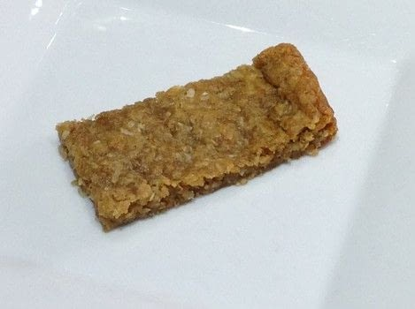 Anzac bars .  Free tutorial with pictures on how to bake an oat bar in under 20 minutes by cooking and baking with oats, plain flour, and brown sugar. Recipe posted by Super Madcow.  in the Recipes section Difficulty: Easy. Cost: Cheap. Steps: 6
