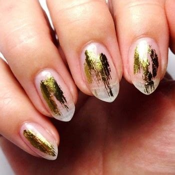 Easy Nail Foil Nails .  Free tutorial with pictures on how to paint a nail painting in under 30 minutes using artistic correction gel, uv/led lamp, and nail foil adhesive. How To posted by Lacquered Lawyer.  in the Beauty section Difficulty: Easy. Cost: Cheap. Steps: 4