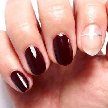 Simple Mani .  Free tutorial with pictures on how to paint a nail painting in under 60 minutes using base coat, nail clippers, and dark red nail polish. How To posted by Lacquered Lawyer.  in the Beauty section Difficulty: Easy. Cost: Cheap. Steps: 2