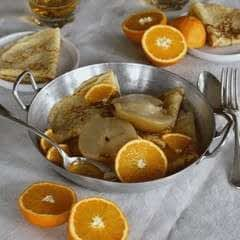 Crepes, Pear With Citrus, Orange Sabayon