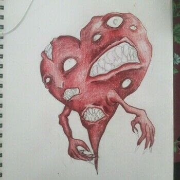 Be Still my Carnivorous Heart .  Make a drawing in under 120 minutes using colored pencil and sketchbook. Inspired by monsters and hearts. Creation posted by CiiMoore.  in the Art section Difficulty: 3/5. Cost: 3/5.