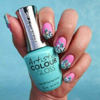Ice Cream Nails Topped With Sprinkles .  Free tutorial with pictures on how to paint a nail painting in under 60 minutes using nail art brush, orange stick, and pink gel polish. How To posted by Lacquered Lawyer.  in the Beauty section Difficulty: Simple. Cost: Cheap. Steps: 5