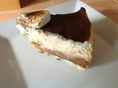 S'mores Cheesecake. .  Free tutorial with pictures on how to bake a cheesecake in under 105 minutes by cooking, baking, and cake decorating with digestives, brown sugar, and vanilla. Recipe posted by Super Madcow.  in the Recipes section Difficulty: Easy. Cost: Cheap. Steps: 7