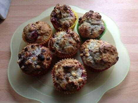 .  Free tutorial with pictures on how to bake a muffin in under 30 minutes by cooking and baking with plain flour, sugar, and baking powder. Recipe posted by Super Madcow.  in the Recipes section Difficulty: Easy. Cost: Cheap. Steps: 7