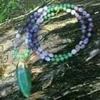 Aventurine & Amethyst Long Boho Necklace