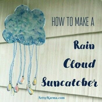 DIY Rain cloud with crystal rain drops .  Make a home / garden project in under 120 minutes by beading and decorating with seed beads, crystal, and alcohol inks. Creation posted by Heather M.  in the Decorating section Difficulty: 3/5. Cost: 3/5.
