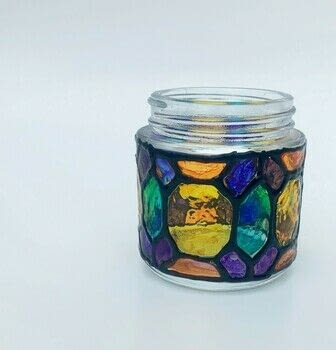 Recycle your jars into something colorful .  Make a recycled candle holder in under 120 minutes using glass jar, markers, and puffy paint. Creation posted by Heather M.  in the Decorating section Difficulty: Simple. Cost: 3/5.