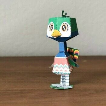 Animal Crossing Julia Papercraft .  Cut a piece of papercutting by papercrafting and paper folding with paper. Inspired by cartoons, animals, and birds. Creation posted by Stephen G.  in the Papercraft section Difficulty: Easy. Cost: Cheap.