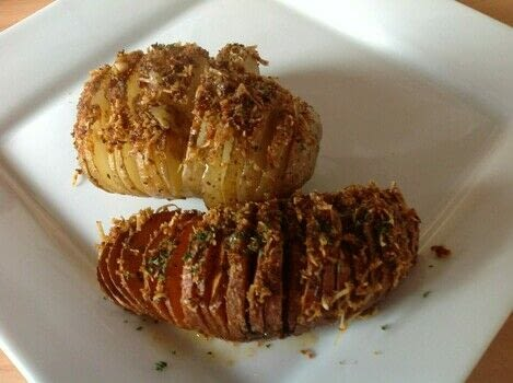 .  Free tutorial with pictures on how to cook a hasselback potato in under 70 minutes by baking with potatoes, butter, and parmigiana. Recipe posted by Super Madcow.  in the Recipes section Difficulty: Easy. Cost: Cheap. Steps: 5