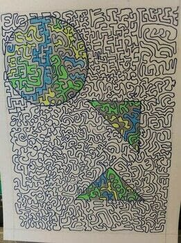 Zentangle .  Create a piece of abstract or patterned art in under 120 minutes by drawing Inspired by abstract. Creation posted by Rellijac J.  in the Art section Difficulty: Easy. Cost: No cost.