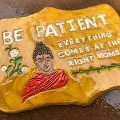 Inspirational Quote Plaque Using Clay