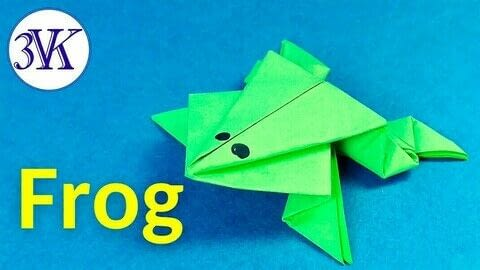 how to make a jumping paper frog · how to fold an origami