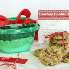 Cowboy Cookie Mix Gift (Chocolate Chip Pecan Oatmeal) With Printable Recipe Cards!